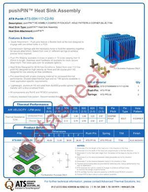 ATS-05H-117-C2-R0 datasheet скачать даташит
