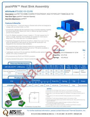 ATS-03C-151-C2-R0 datasheet скачать даташит