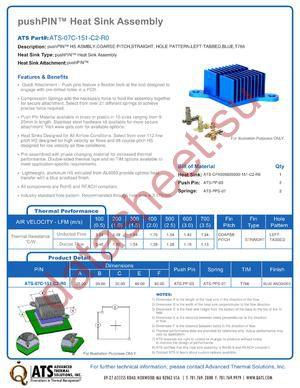 ATS-07C-151-C2-R0 datasheet скачать даташит