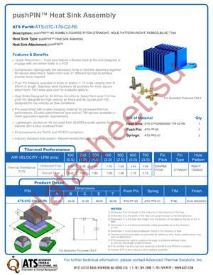 ATS-07C-179-C2-R0 datasheet скачать даташит