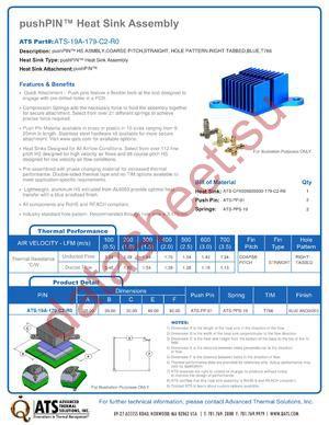 ATS-19A-179-C2-R0 datasheet скачать даташит