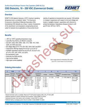 C1206C391F1GACTU datasheet скачать даташит