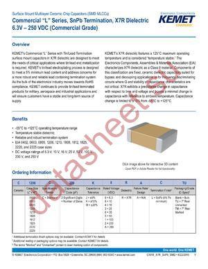 C1210C106K4RALTU datasheet скачать даташит