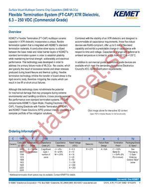 C1210X106K4RACTU datasheet скачать даташит