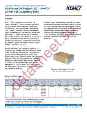 C1812C122MZRACTU datasheet скачать даташит