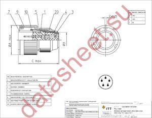 MS3106F18-11SF187 datasheet скачать даташит