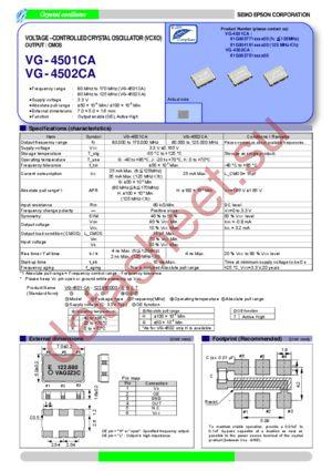 VG-4501CA 122.8800M-GGCT0 datasheet скачать даташит