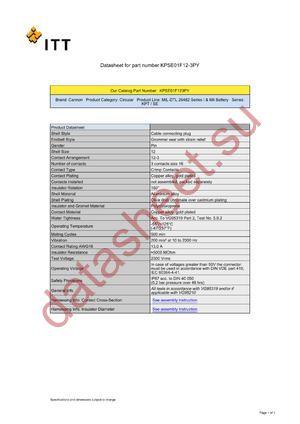 KPSE01F12-3PY datasheet скачать даташит