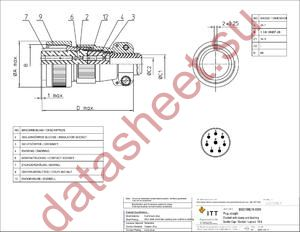 MS3106E18-8SW datasheet скачать даташит