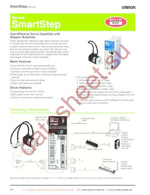 R88A-CAGB020B datasheet скачать даташит