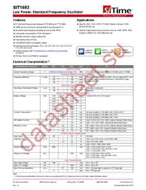 SIT1602AIU2-33E datasheet скачать даташит
