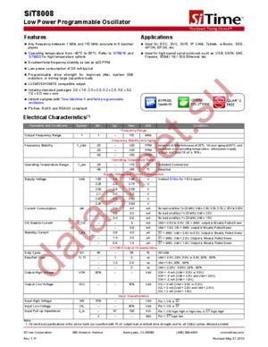 SIT8008AIB1-18S datasheet скачать даташит