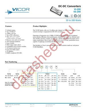 VI-241-IU-F4 datasheet скачать даташит