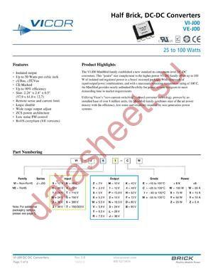 VE-J5T-MX-F4 datasheet скачать даташит