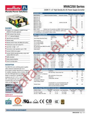 MVAC250-12F datasheet скачать даташит